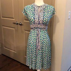 Diane Von Furstenberg silk Greek key wrap dress